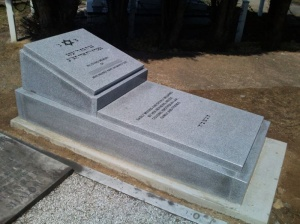 Light Grey Upright Memorial